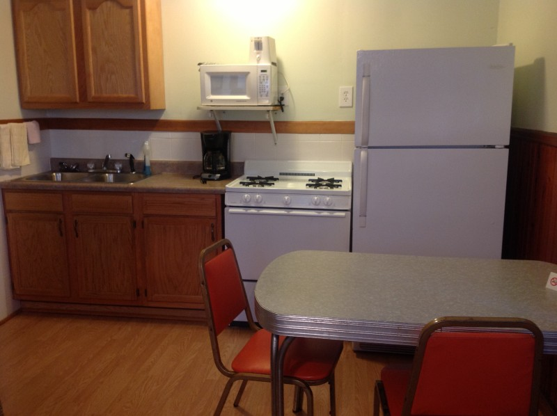 One bedroom cabin kitchen